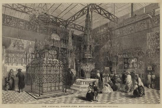 The Crystal Palace, the Mediaeval Court--Giclee Print