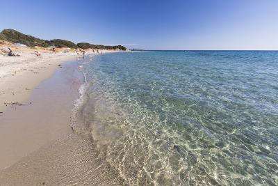 The Crystal Turquoise Water of the Sea Frames the Sandy Beach, Sant Elmo Castiadas, Costa Rei-Roberto Moiola-Photographic Print