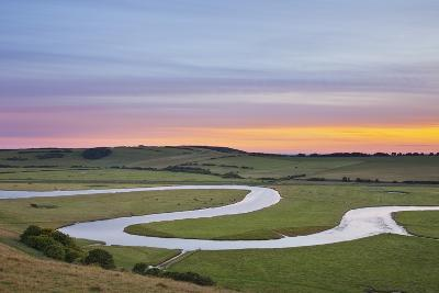 The Cuckmere River at Sunset, Seven Sisters Country Park, South Downs Np, England, UK-Guy Edwardes-Photographic Print