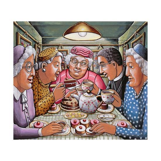 The Curate Taking Tea with the Ladies, 2009-P.J. Crook-Giclee Print