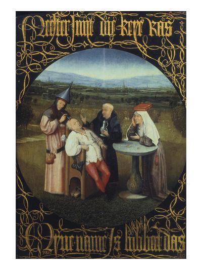 The Cure for Folly or Extraction of Stone from Madman 1475-80-Hieronymus Bosch-Giclee Print