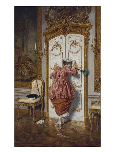 The Curious Maid-Giuseppe Brugo-Giclee Print