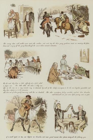 The Curmudgeons' Christmas-Randolph Caldecott-Giclee Print
