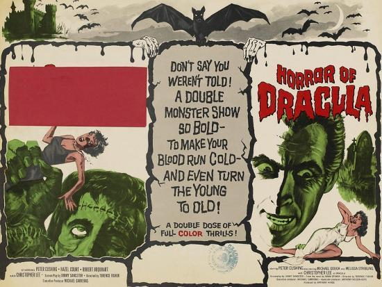 The Curse of Frankenstein, 1957, Horror of Dracula, 1958, Christopher Lee  Art Print by | Art com