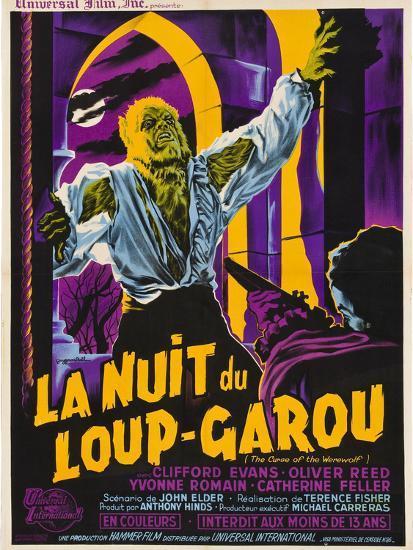 The Curse of the Werewolf (aka La Nuit Du Loup-Garou)--Art Print