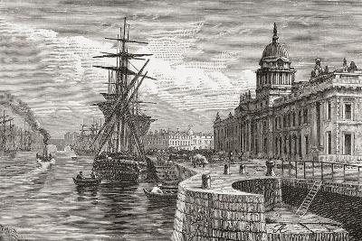 The Custom House, Dublin, Ireland in the 19th Century. from Cities of the World, Published C.1893--Giclee Print