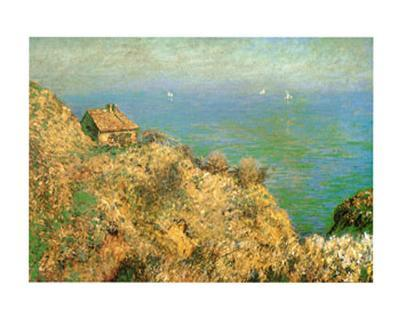 The Custom Officer's House at Varengeville-Claude Monet-Art Print