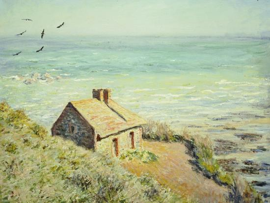The Customs Hut, Morning, 1882-Claude Monet-Premium Giclee Print