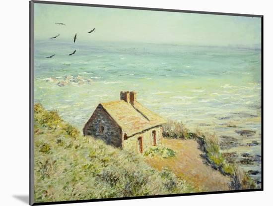 The Customs Hut, Morning, 1882-Claude Monet-Mounted Premium Giclee Print