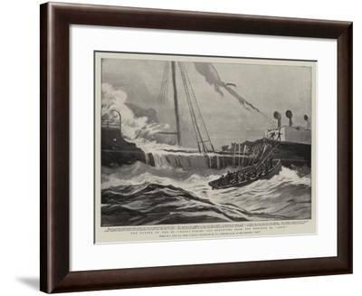 The Cutter of the Ss Mayo Taking Off Survivors from the Wrecked Ss Aden-Joseph Nash-Framed Giclee Print