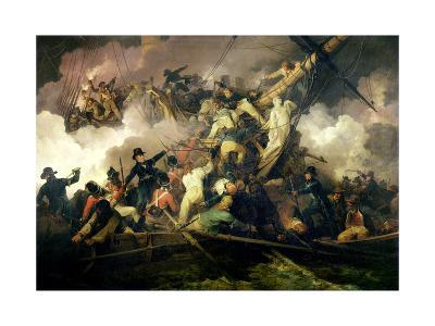 The Cutting-Out of the French Corvette, 'La Chevrette', 21st July 1801-Philip James De Loutherbourg-Giclee Print