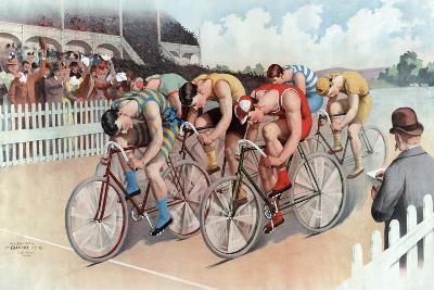 The Cycle Race, Pub. the Calvert Litho. Co., 1895--Giclee Print