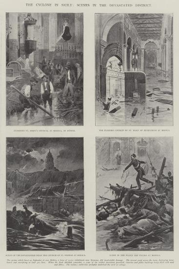 The Cyclone in Sicily, Scenes in the Devastates District--Giclee Print