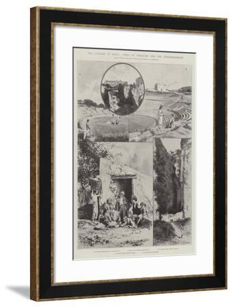The Cyclone in Sicily, Views of Syracuse and the Neighbourhood-Joseph Holland Tringham-Framed Giclee Print