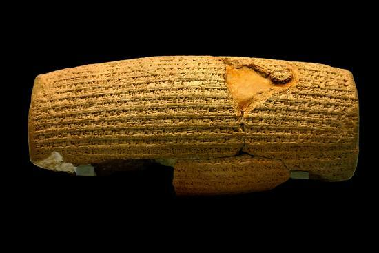 The Cyrus Cylinder, 6th Century BC, the First Declaration of Human Rights-Babak Tafreshi-Photographic Print