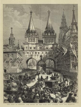 The Czar at Moscow, the Entry of the Czar and Czarina into the Kremlin--Giclee Print