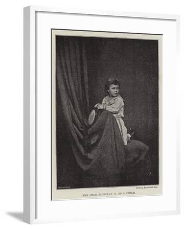 The Czar Nicholas II as a Child--Framed Giclee Print