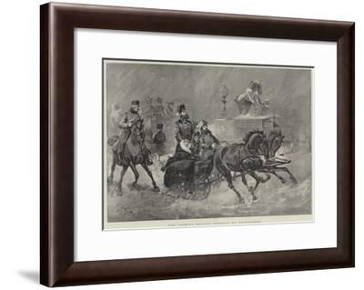 The Czarina Driving Through St Petersburg--Framed Giclee Print