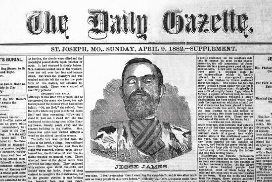 The Daily Gazette-Jessie James--Art Print