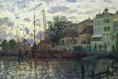 The Dam at Zaandam, Evening, 1871-Claude Monet-Giclee Print