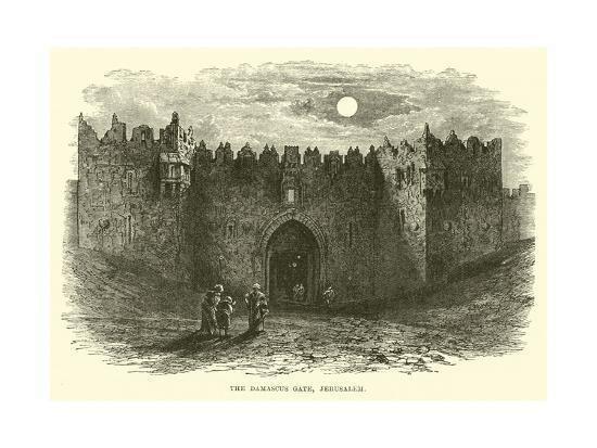 The Damascus Gate, Jerusalem--Giclee Print