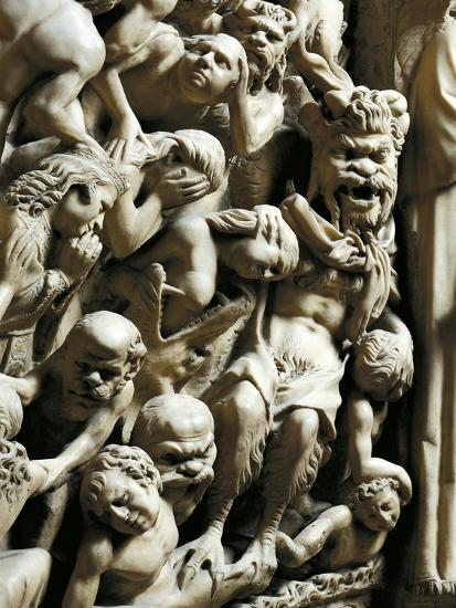 The Damned, Detail from Pulpit-Nicola Pisano-Giclee Print