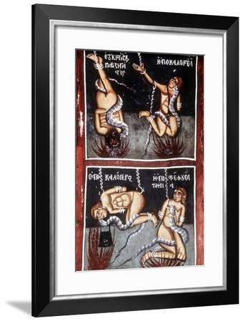 The Damned, Detail of Last Judgement--Framed Giclee Print