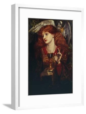 The Damsel of the Sanct Grail, 1874-Dante Gabriel Rossetti-Framed Giclee Print