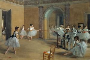 The Dance Foyer at the Opera on the Rue Le Peletier by Egar Degas