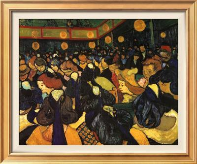 The Dance Hall at Arles, c.1888-Vincent van Gogh-Framed Textured Art
