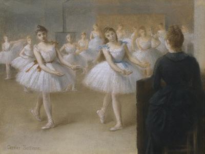 The Dance Lesson Giclee Print Pierre Carrier Belleuse Art Com