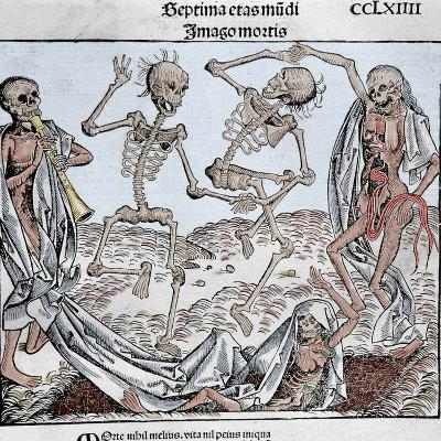 The Dance of Death (1493) by Michael Wolgemut, from the Liber Chronicarum by Hartmann Schedel-Prisma Archivo-Photographic Print