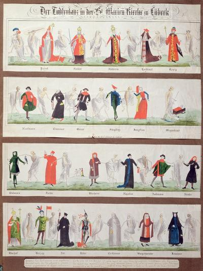 The Dance of Death from the Marienkirche in Luebeck--Giclee Print