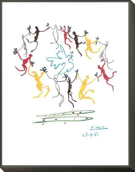 The Dance of Youth-Pablo Picasso-Framed Print Mount