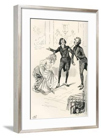 The Dancing Academy. Mr. Cooper--Framed Giclee Print
