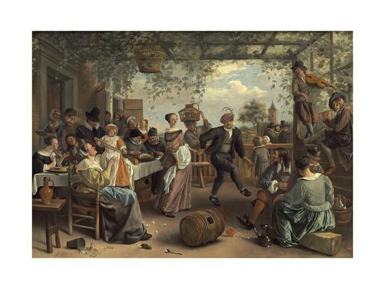The Dancing Couple, 1663-Jan Havicksz^ Steen-Giclee Print