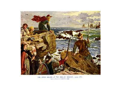 The Danes Sailing Up the English Channel, C877 Ad-Herbert A Bone-Giclee Print