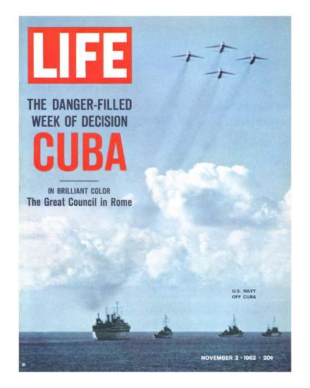 The Danger Filled Week of Decision: Cuba, US Navy Ships and Planes Off Cuba, November 2, 1962-Robert W^ Kelley-Premium Photographic Print