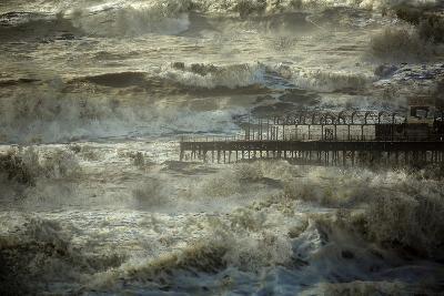 The Dark and Rolling Sea-Valda Bailey-Photographic Print