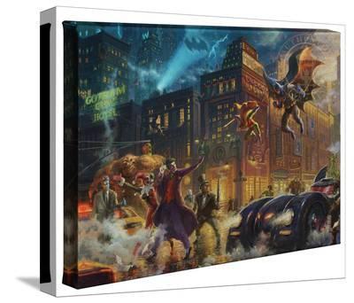 The Dark Knight Saves Gotham City-Thomas Kinkade-Gallery Wrapped Canvas