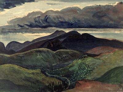 The Dark Mountains (Brecon Beacons)-James Dickson Innes-Giclee Print