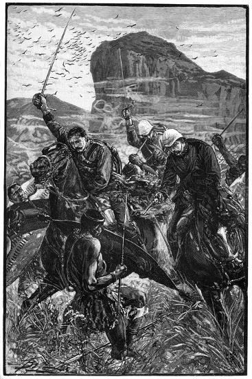 The Dash with the Colours, Battle of Isandlwana, Anglo-Zulu War, 22 January 1879--Giclee Print