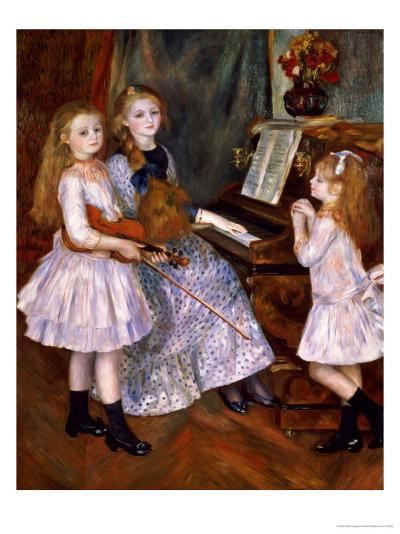 The Daughters of Catulle Mendes at the Piano, 1888-Pierre-Auguste Renoir-Giclee Print