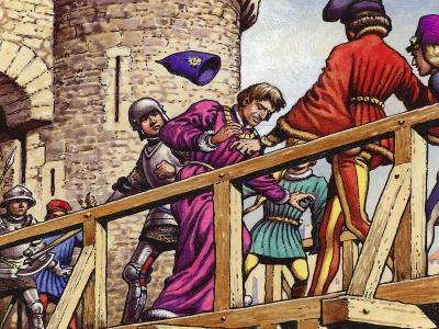 The Dauphin Meets John the Fearless, Duke of Burgundy, on the Bridge across the Seine-Pat Nicolle-Giclee Print
