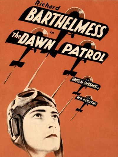 THE DAWN PATROL, Richard Barthelmess on poster art, 1930--Art Print