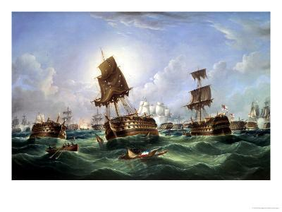 The Day After the Battle of Trafalgar, c.1867-Richard Spencer-Giclee Print