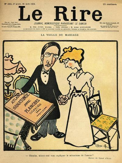 The Day before the Wedding, Cartoon from the Cover of 'Le Rire', 26th August 1899-Emmanuel Poire Caran D'ache-Giclee Print