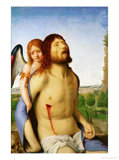 The Dead Christ Supported by an Angel, c.1475/78-Antonello da Messina-Giclee Print