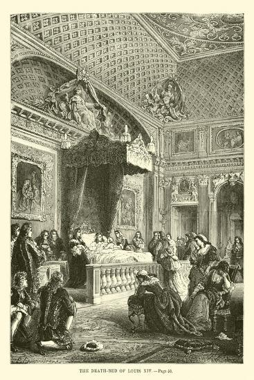 The Death-Bed of Louis XIV--Giclee Print