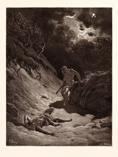The Death of Abel-Gustave Dore-Giclee Print